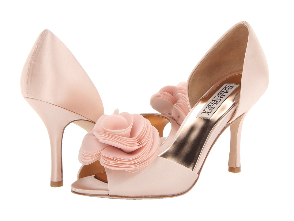 Badgley Mischka Thora (Pink Satin) High Heels