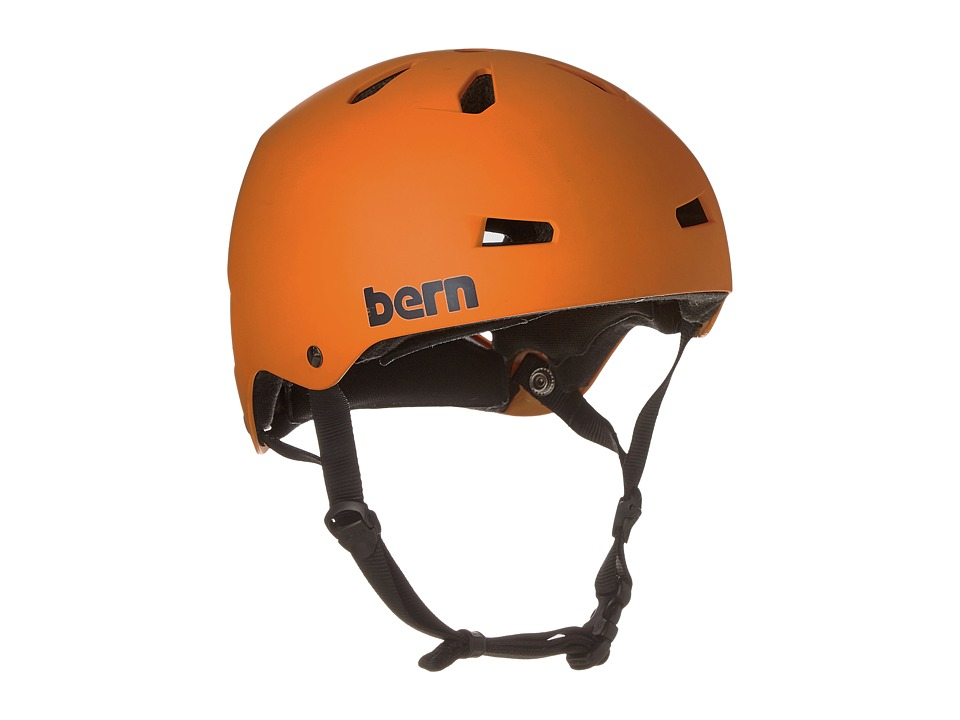 Bern - Macon Skate (Matte Orange) Skateboard Helmet