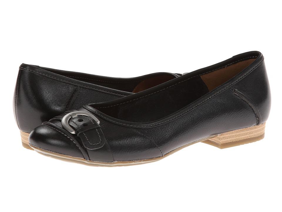 Clarks - Lockney Ice (Black) Women's Flat Shoes