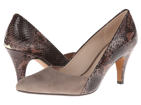 Clarks - Dalhart Chest (Mushroom Suede/Grey Snake) High Heels