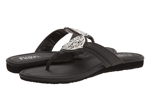 Flojos - Clara (Black) Women's Sandals