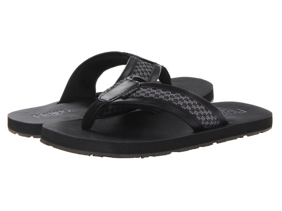 Flojos - Checkmate (Black/Grey) Men's Sandals