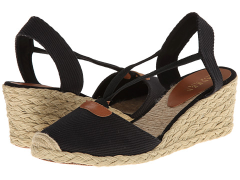 LAUREN by Ralph Lauren - Cala (Black) Women's Wedge Shoes