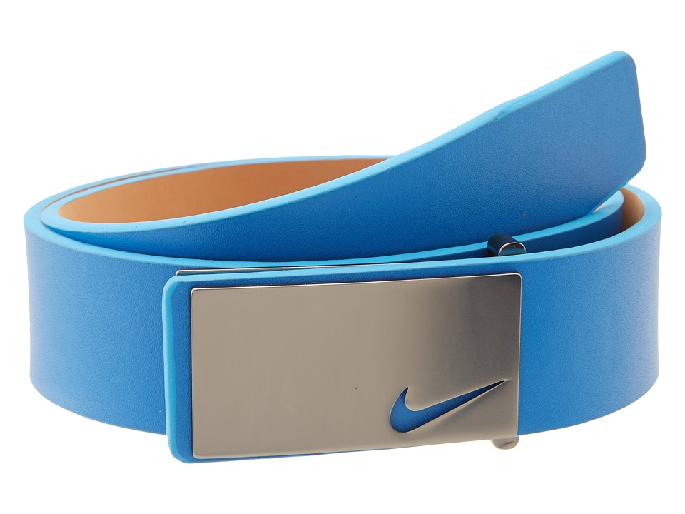 Nike - Sleek Modern Plaque (Military Blue) Men's Belts