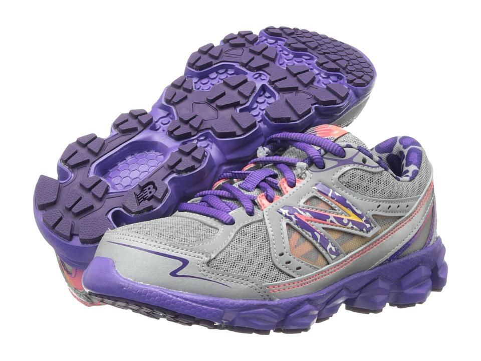 New Balance Kids - KJ750 (Little Kid/Big Kid) (Dark Grey/Purple) Girls Shoes