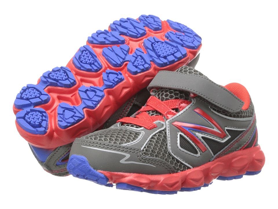 New Balance Kids - KV750 (Infant/Toddler) (Grey/Red) Boys Shoes