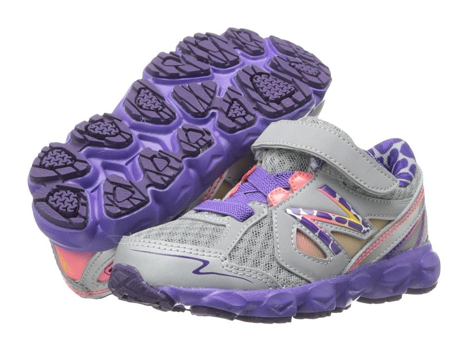 New Balance Kids - KV750 (Infant/Toddler) (Dark Grey/Purple) Girls Shoes