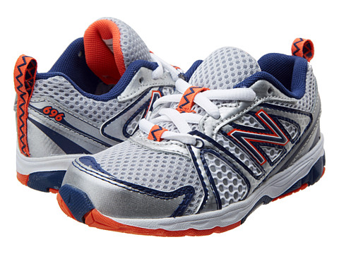 New Balance Kids - KJ696 (Infant/Toddler) (White/Vision Blue) Boys Shoes