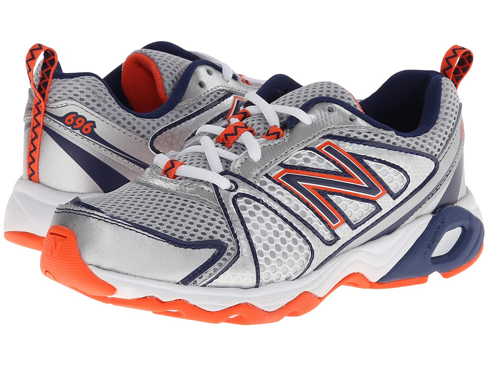 New Balance Kids - KJ696 (Little Kid/Big Kid) (White/Vision Blue) Boys Shoes