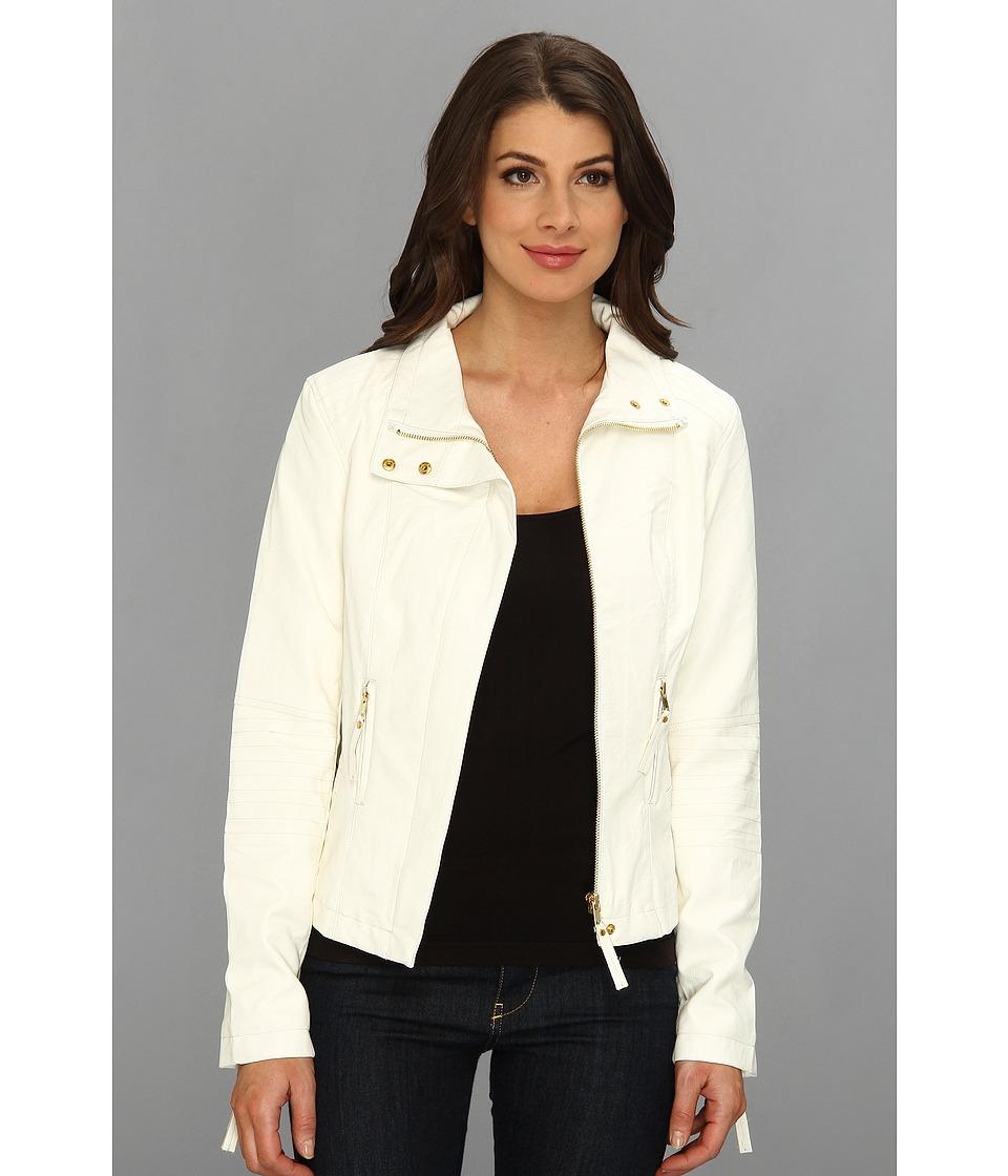 KUT from the Kloth - Elana Motocross Jacket (White) Women's Coat