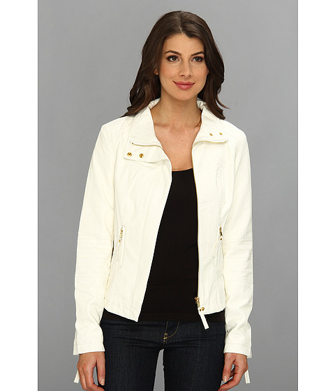 KUT from the Kloth - Elana Motocross Jacket (White) Women's Coat