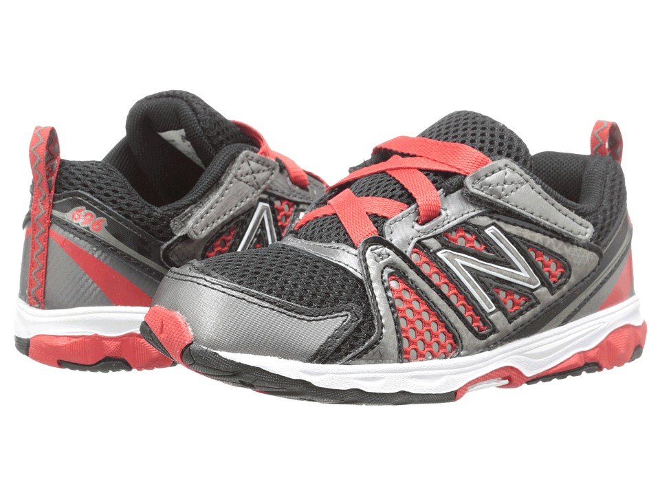 New Balance Kids - KV696 (Infant/Toddler) (Black/Red) Boys Shoes
