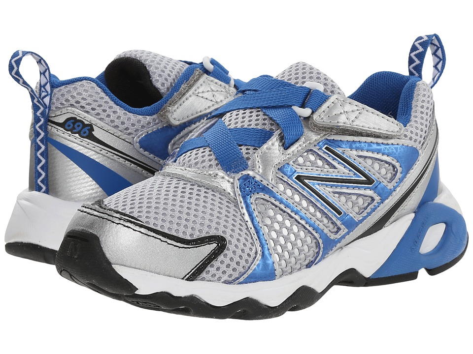 New Balance Kids - KV696 (Little Kid/Big Kid) (Silver/Blue) Boys Shoes