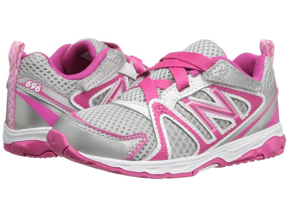 New Balance Kids - KV696 (Infant/Toddler) (Silver/Pink) Girls Shoes