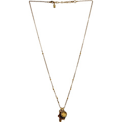 SALE! $17.99 - Save $17 on Lucky Brand Rock N Reflect Healing Charm Necklace (Gold) Jewelry - 48.60% OFF $35.00