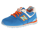 New Balance Kids KL574 (Infant/Toddler) (Blue/Orange)