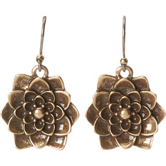SALE! $17.99 - Save $7 on Lucky Brand Rock N Reflect Healing Flower Drop Earrings (Gold) Jewelry - 28.04% OFF $25.00