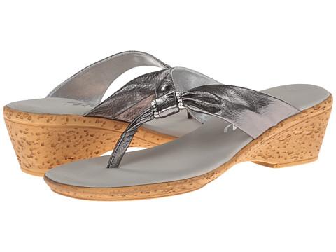 Onex - Paulie (Pewter Leather) Women's Sandals