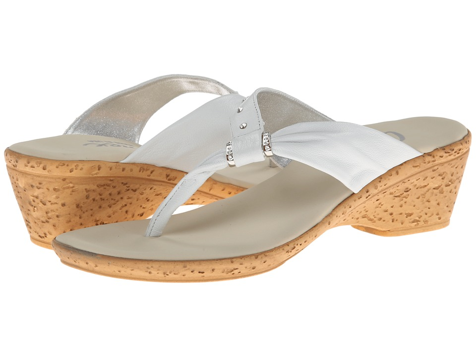 Onex - Paulie (White/Silver) Women's Sandals