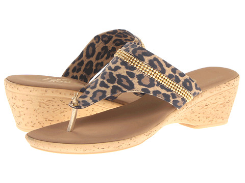 Onex - Tory (Brown Leopard Elastic) Women's Slide Shoes