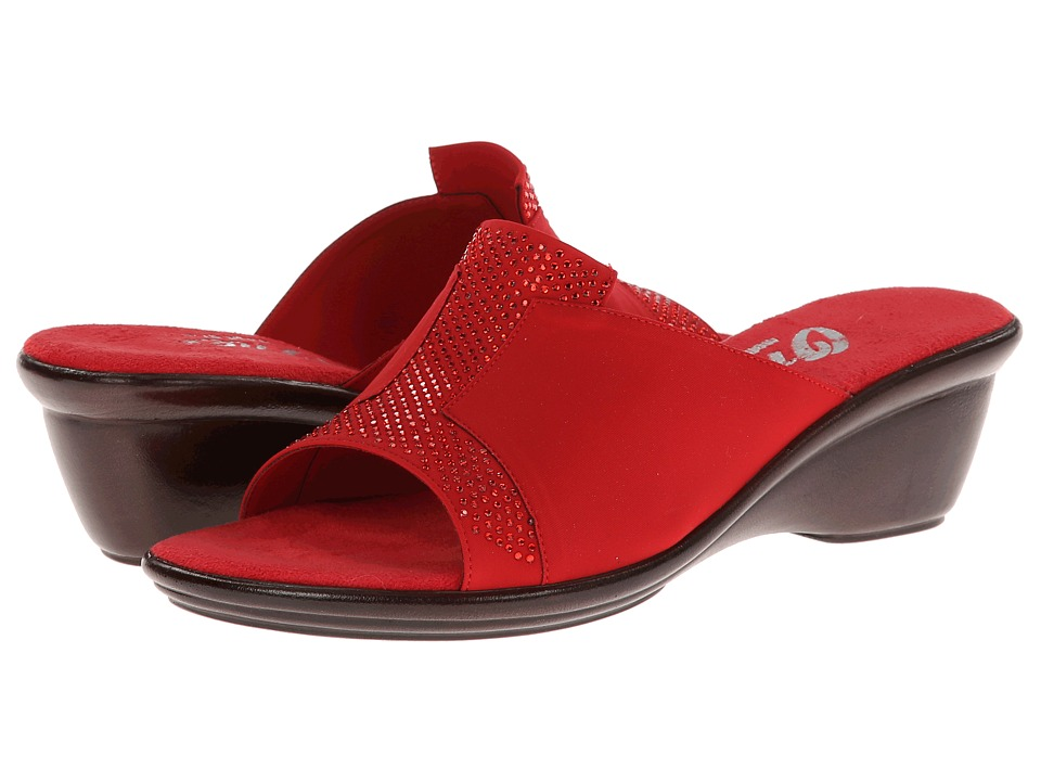 Onex - Andi (Red Elastic) Women's Slide Shoes
