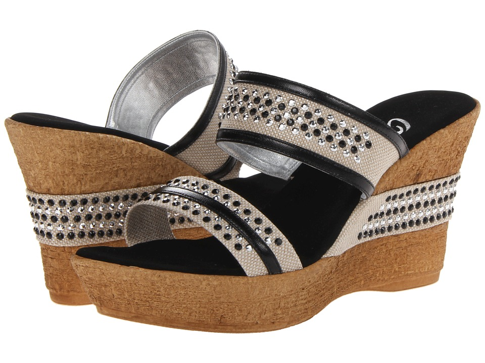 Onex - Breeze (Black/Silver) Women's Wedge Shoes