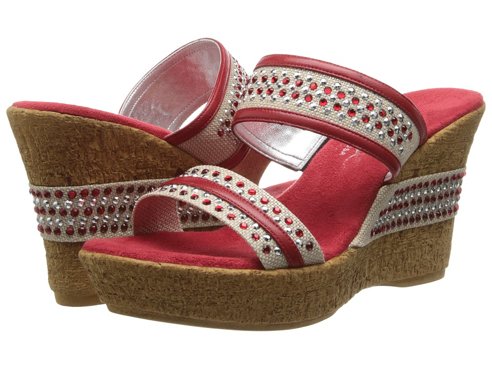 Onex - Breeze (Red Leather) Women's Wedge Shoes