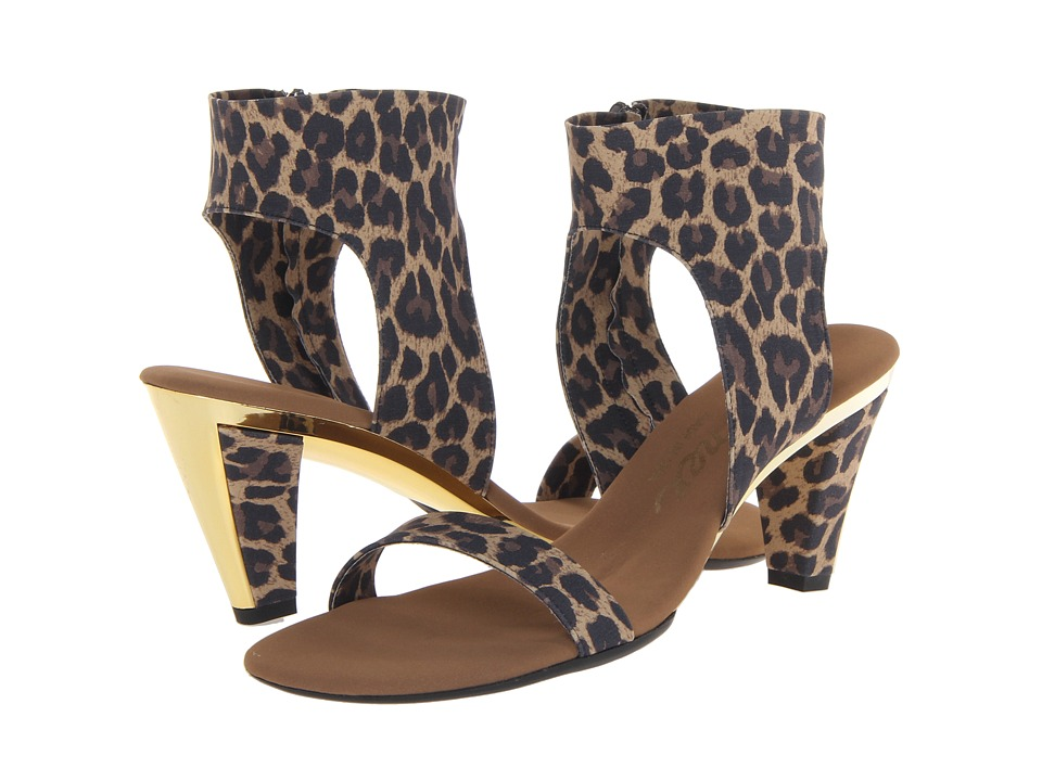 Onex - Showgirl-N (Brown Leopard Elastic) Women's Sandals