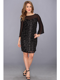 SALE! $94.99 - Save $63 on Muse Novelty Lace Dot Sheath Dress (Black) Apparel - 39.88% OFF $158.00