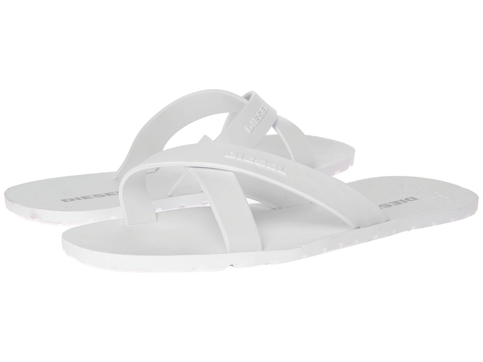 Diesel - Wash (White) Men's Slippers