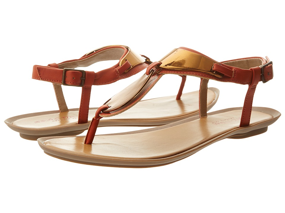 Kenneth Cole Reaction Snippity Snap Womens Sandals (Orange)