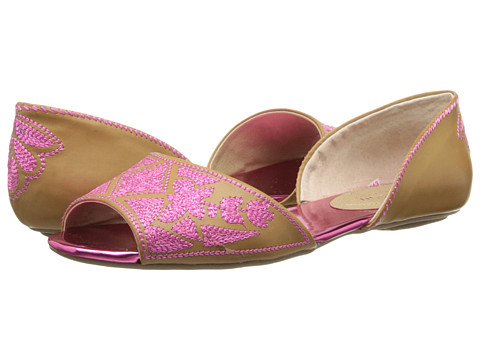 Kenneth Cole Reaction - Tina Tot (Tan/Fuschia) Women's Flat Shoes