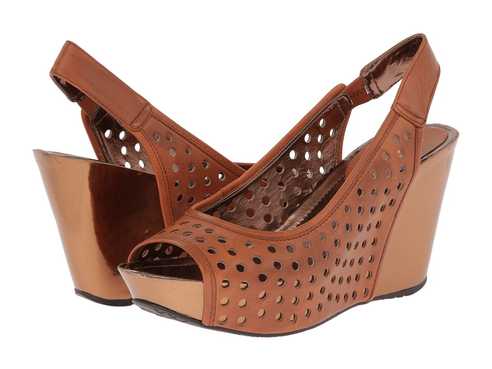 Kenneth Cole Reaction Soley Roller 3 Womens Wedge Shoes (Brown)