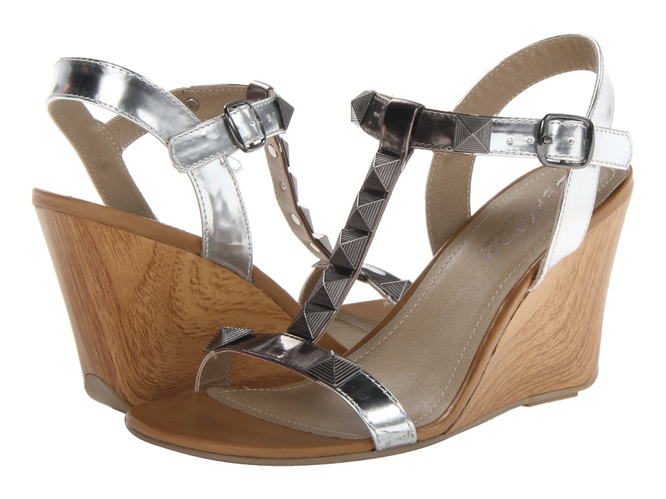 Kenneth Cole Reaction Ava Flava Womens Wedge Shoes (Silver)