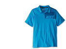 Nike Kids Sport Graphic Polo (Big Kids) (Vivid Blue) Boy's Short Sleeve Pullover