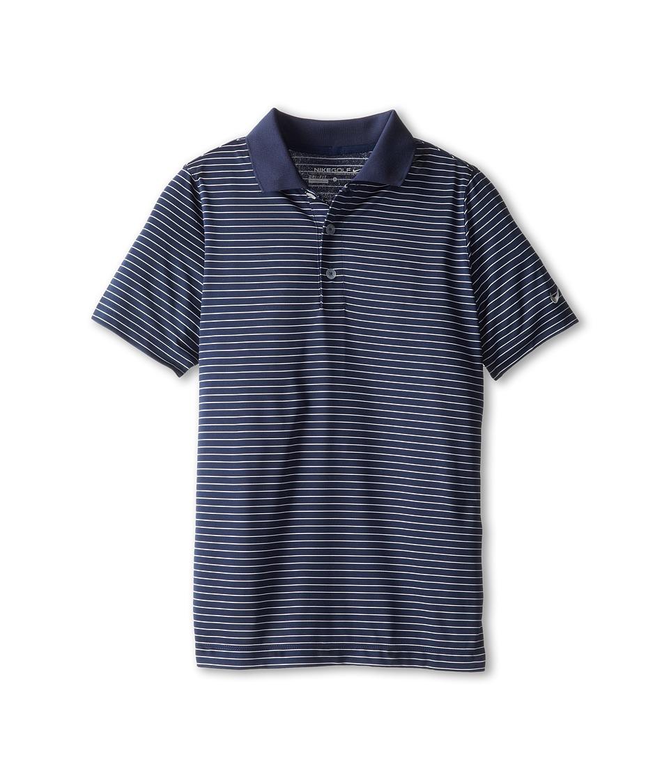 Nike Kids - Victory Stripe Polo (Big Kids) (College Navy) Boy's Short Sleeve Pullover