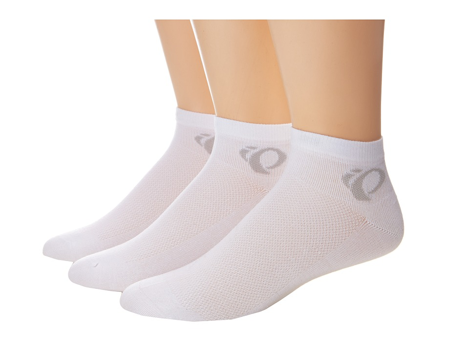 Pearl Izumi - W Attack Low Sock 3 Pack (White) Women's Crew Cut Socks Shoes