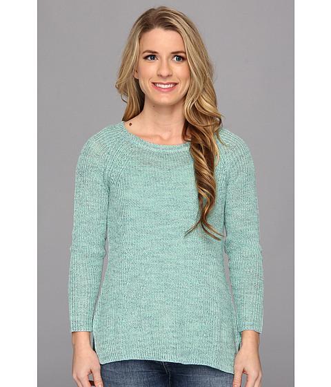 NIC+ZOE - Petite Subtle Stitch Top (Mint Mix) Women's Long Sleeve Pullover
