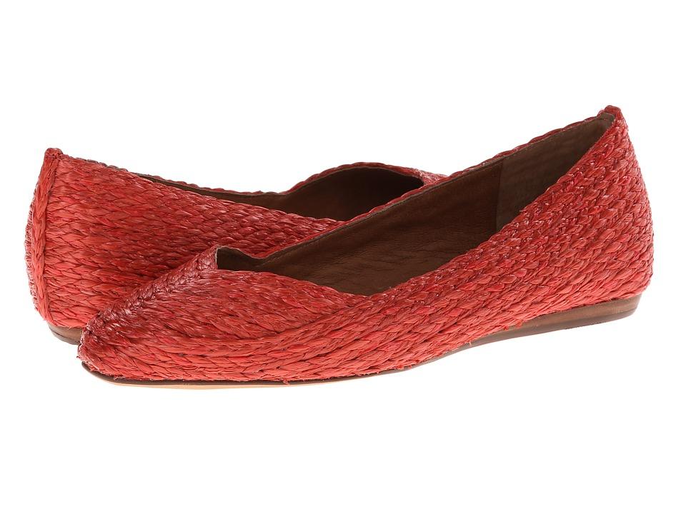 Corso Como - Ruffle (New Coral Rafia) Women's Slip-on Dress Shoes