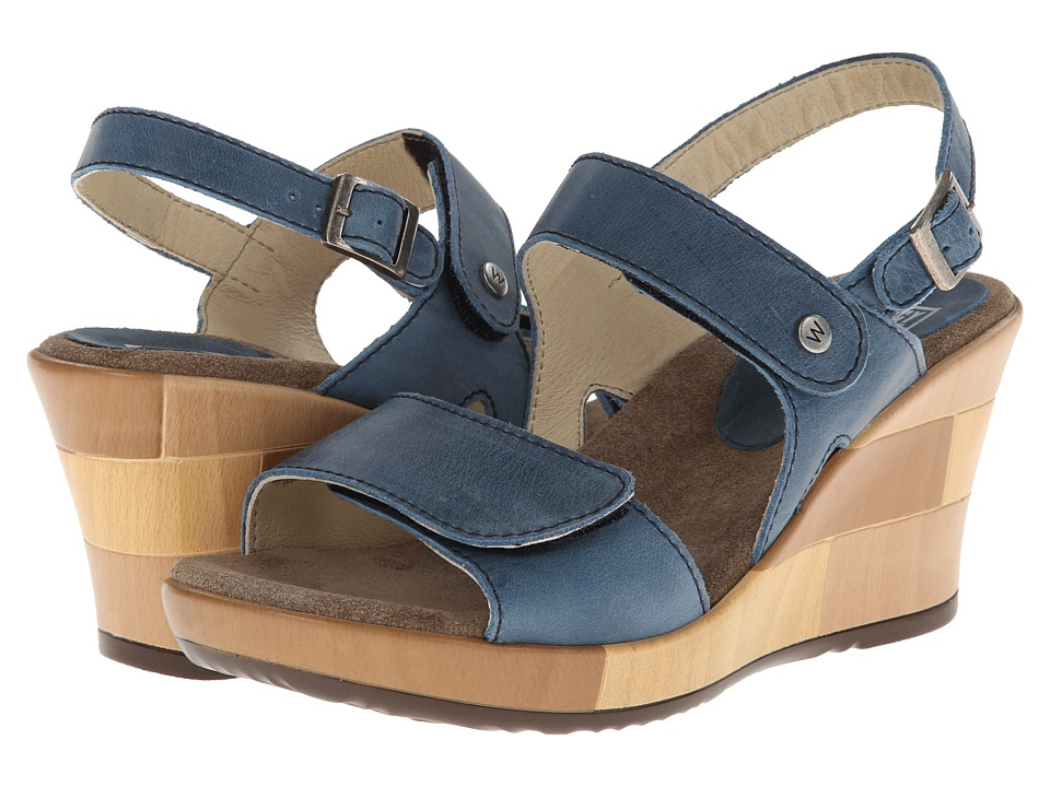 Wolky - Rose (Denim Blue Buffed) Women's Shoes