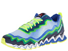 Reebok Zigultra Crush (White/Vital Blue/Reebok Navy/Neon Yellow/Black) Men's Running Shoes