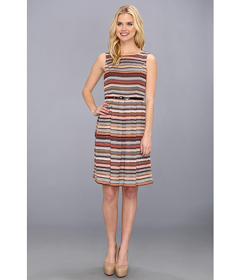 Muse - Multi Striped Knit Girlie Dress (Multi) Women