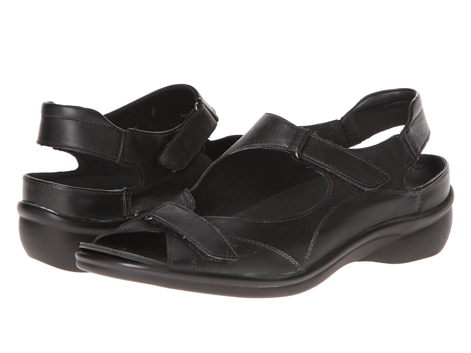 ara - Maya (Black Leather) Women's Sandals