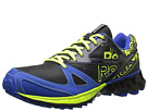 Reebok ZigKick Trail 1.0 (Gravel/Black/Neon Yellow/Vital Blue/White) Men's Running Shoes