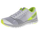 Reebok Sublite Duo Instinct (White/Steel/Tin Grey/Neon Yellow) Men's Running Shoes