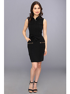 SALE! $49.99 - Save $78 on Calvin Klein 4 Ply Shirt Dress (Black) Apparel - 60.95% OFF $128.00