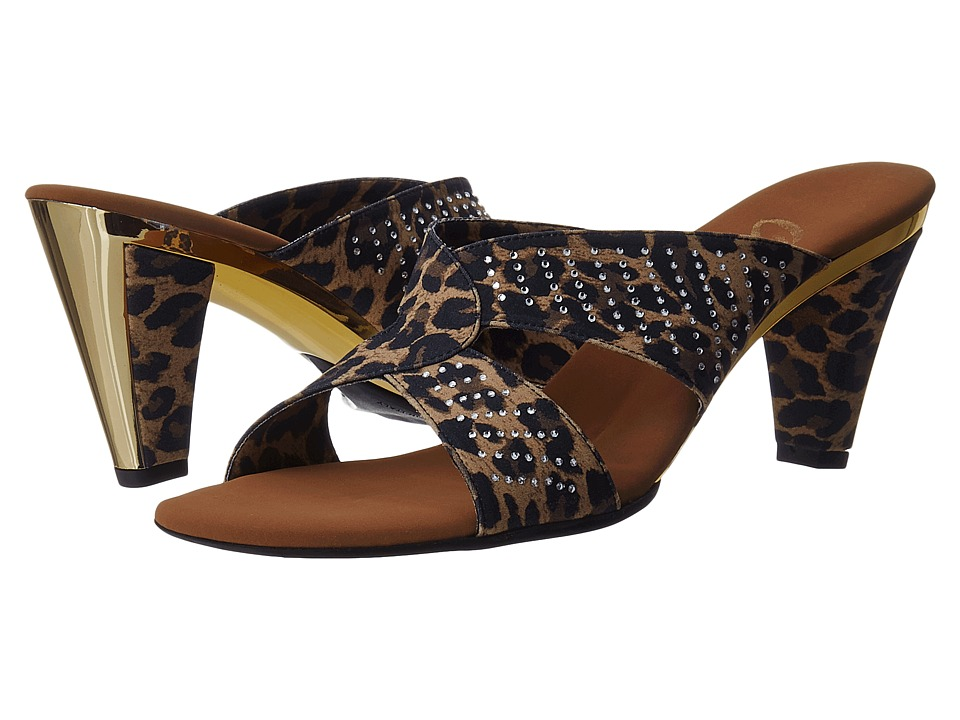 Onex - Adelle (Brown Leopard Elastic) Women's Dress Sandals