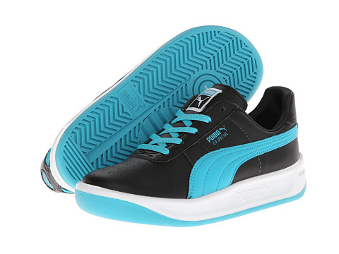 Puma Kids - GV Special Jr (Little Kid/Big Kid) (Black/Bluebird) Kids Shoes