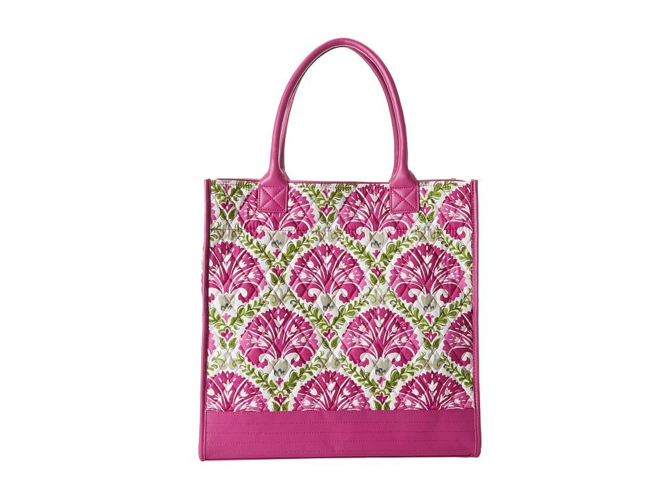 Vera Bradley - Boxy Tote (Julep Tulip with Plum Trim) Tote Handbags