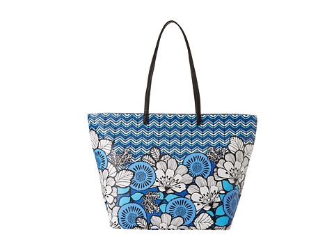 Vera Bradley - Pattern Play Tote (Blue Bayou with Black Trim) Tote Handbags